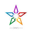 spectrum star Abstract design element on white vector image vector image