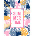 summer hawaiian tropical poster vector image