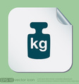 weight icon symbol denoting a measure of weight vector image vector image