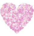 petal shaped heart vector image