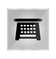 icon of an old typewriter vector image