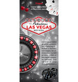 welcome to las vegas flyer vector image