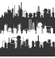 oil and gas refinery power plant silhouette vector image