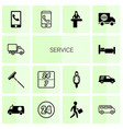 14 service icons vector image vector image