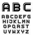 3D black simple font alphabet letters vector image vector image