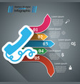 3d infographic phone icon vector image