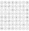 64 Flat Icons for Web Business and Social vector image