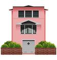 A big pink building vector image vector image