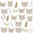 abstract cats seamless animals nature pattern it vector image vector image