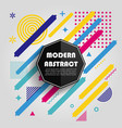 abstract colorful geometric pattern design vector image