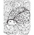 Adult coloring page design with Bug vector image vector image
