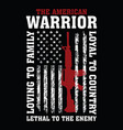 american warrior vector image