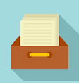 archive papers icon flat style vector image