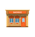 bakehouse facade bread shop building vector image vector image