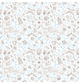 Birthday seamless pattern Hand drawn vector image vector image