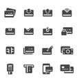 black credit card icons set vector image