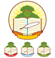 Book Tree Emblem vector image