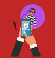 business hand calling with eavesdropping by hacker vector image vector image
