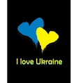 card i love Ukraine vector image