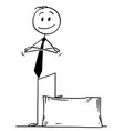 cartoon of confident man or businessman standing vector image vector image