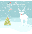 Christmas Congratulatory Background With Deer and vector image vector image