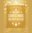 christmas greetings typography on yellow vector image