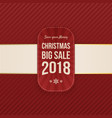 christmas sale decorative banner vector image vector image