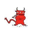 comic cartoon little demon vector image vector image