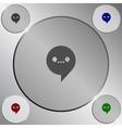 Dialog web icon vector image