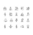 directors line icons signs set outline vector image vector image