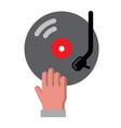 dj hand icon vector image