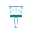 dotted shape broom sweep equipment to clean house vector image vector image