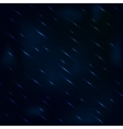 Drizzling rain at night with hazy blue sky vector image vector image