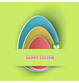 Easter holiday backdrop vector image vector image