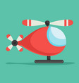 flat helicopter vector image