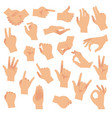 gesturing hands hand with counting gestures vector image vector image