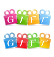 Gift banners vector | Price: 1 Credit (USD $1)