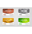 Gift cards polygonal background vector image vector image