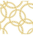 golden chains seamless pattern luxury fashion vector image vector image