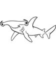 Hammerhead shark coloring book vector image