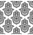 hamsa hand with mandala seamless pattern vector image
