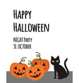 happy halloween party invitation card for vector image vector image