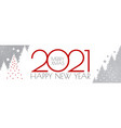 happy new 2021 year flyer design template elegant vector image vector image