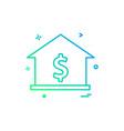 house dollar home icon design vector image