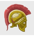 Icon historical knights helmet in flat style vector image vector image