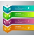 infographics 3d cube vector image
