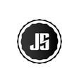 initial letter logo js template design vector image vector image