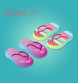 isolated shoes for children summer shoe icons se vector image vector image