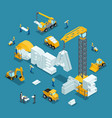 isometric building business idea creative vector image