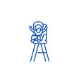 kid in child chair line icon concept kid in child vector image vector image